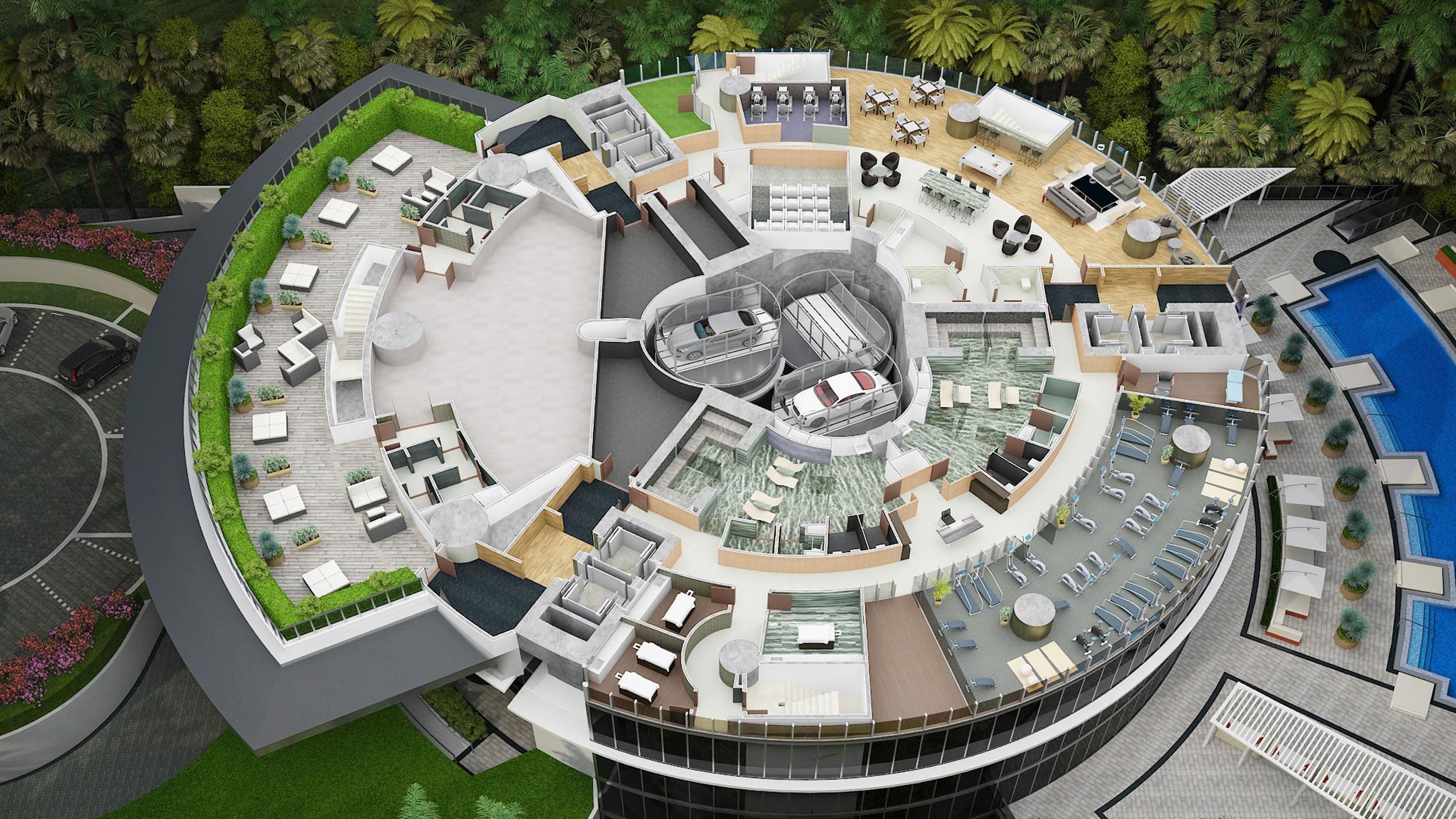Porsche Design Tower Fifth Floor Plan