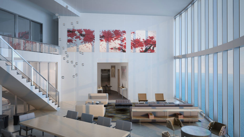 Porsche Design Tower Living Room